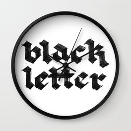 Black Letter fraktur gothic Wall Clock