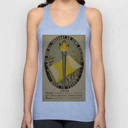 Vintage poster - Adult Education Unisex Tank Top