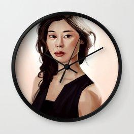 Woman Portrait Wall Clock
