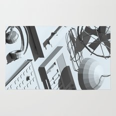 Low Poly Studio Objects 3D Illustration Grey Rug