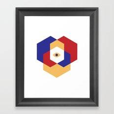 H E X | Eye Framed Art Print