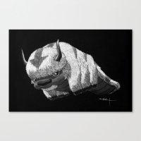 appa Canvas Prints featuring Bison by Creadoorm