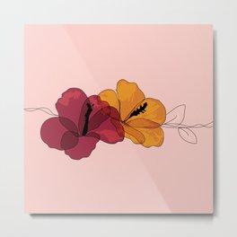Hibiscus Summer Metal Print