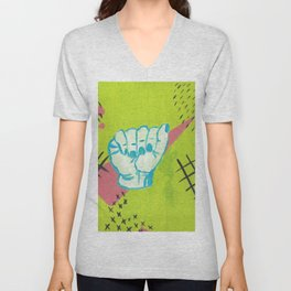American Sign Language A Unisex V-Neck