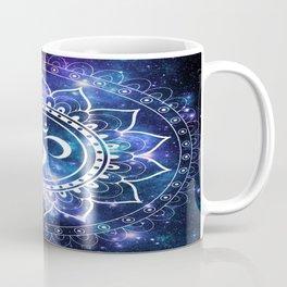 Om Mandala: Violet & Teal Galaxy Coffee Mug