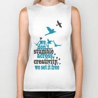 creativity Biker Tanks featuring Creativity by Celina Lopez