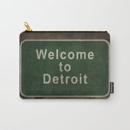 Welcome to Detroit highway road side sign Carry-All Pouch