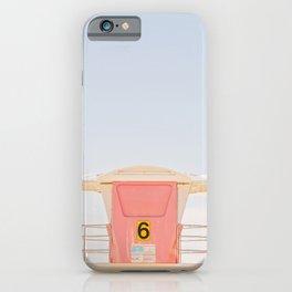 Lifeguard Tower. No. 6 iPhone Case