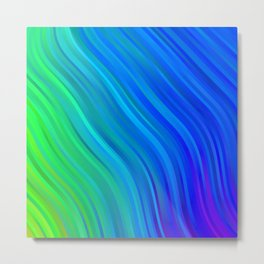 stripes wave pattern 1 stdv Metal Print