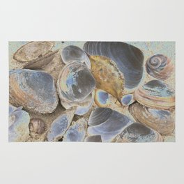 Seashell Abstract Rug