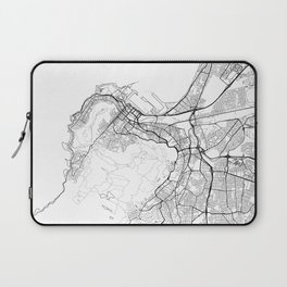 Cape Town Map White Laptop Sleeve