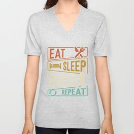 Eat Sleep Soccer Repeat Shirt Unisex V-Neck
