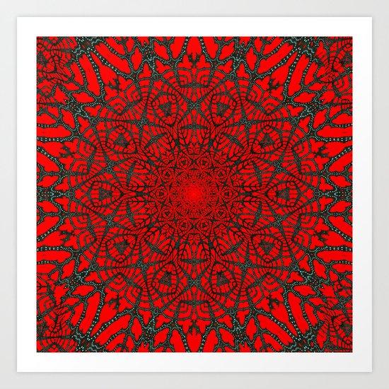 Crimson Web Art Print