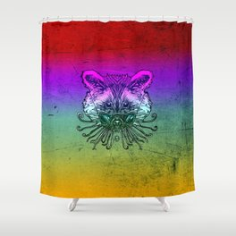 Cool Raccoon Color Shower Curtain