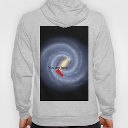 You are Here (improved version) Hoody