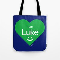 luke hemmings Tote Bags featuring Luke by ♥ Charlie