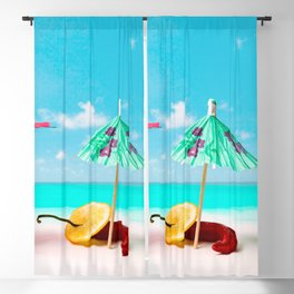 Happy beach hours Blackout Curtain