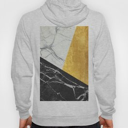 Marble and Gold Abstract Hoody