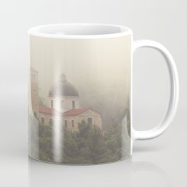Fog Over The Shrine Coffee Mug