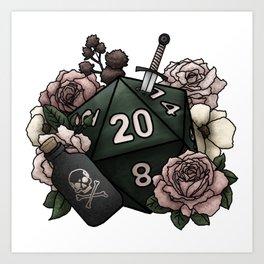Rogue Class D20 - Tabletop Gaming Dice Art Print