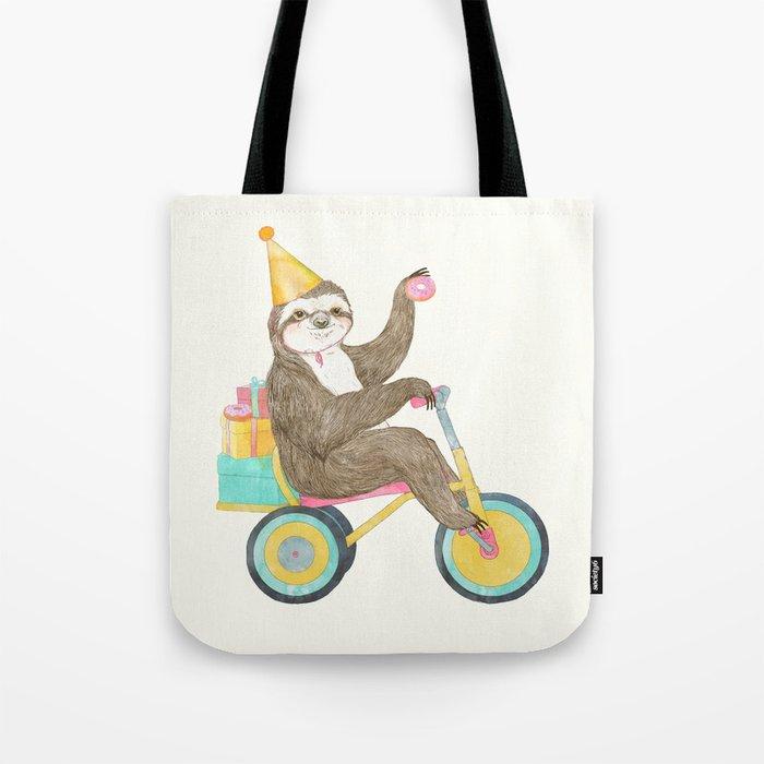 birthday sloth Tote Bag