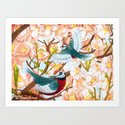 The seasons | Spring birds by hisameartwork