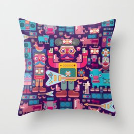 singpentinkhappy band Throw Pillow