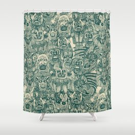 gargoyles teal Shower Curtain