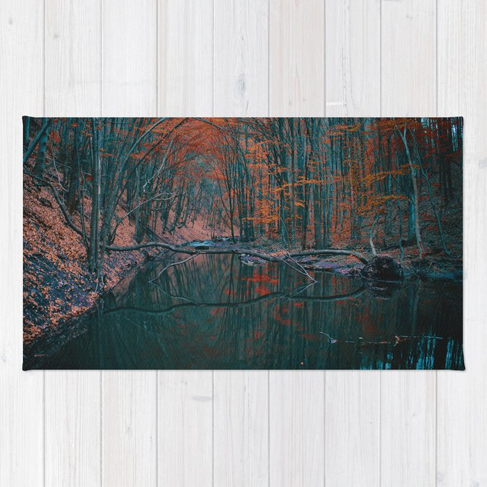 Romanian forest in autumn Rug
