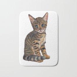 Bengal Kitten, Blue-eyed Kitten, Cute Cat Bath Mat