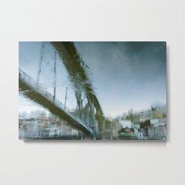 Bridge reflex Metal Print