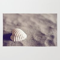 seashell Area & Throw Rugs featuring Seashell by Dena Brender Photography