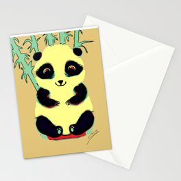Colourful panda Stationery Cards