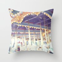carousel Throw Pillows featuring Carousel  by Bree Madden