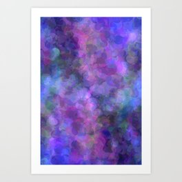 Blueberry Bubbles Art Print