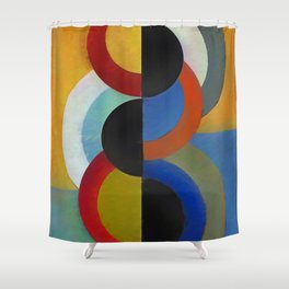 Circles 4 Shower Curtain