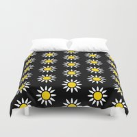 daisies Duvet Covers featuring Daisies  by Libbie Bischoff