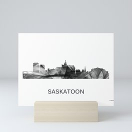 Saskatoon, Saskatchewan Canada Skyline WB WB Mini Art Print