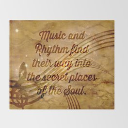 Plato's Quote on Music  Throw Blanket
