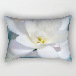 Flowers white macro 057 Rectangular Pillow