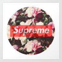 supreme Art Prints featuring Supreme Circle  by Massero Project