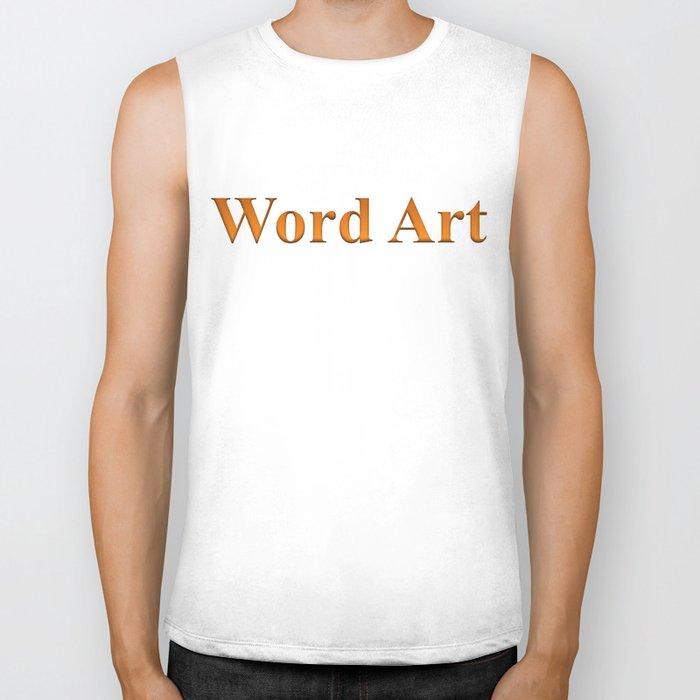 Word Art Biker Tank