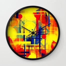 Illusion of night city Wall Clock