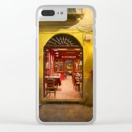 Lucca Cafe Clear iPhone Case