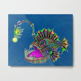 Electric Angler Fish Metal Print