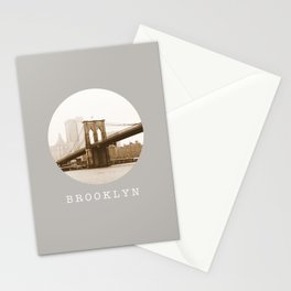 BROOKLYN / new york city / nyc Stationery Cards