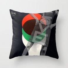 LOVE media Throw Pillow