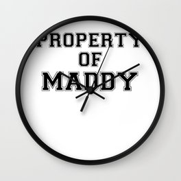 Property of MADDY Wall Clock