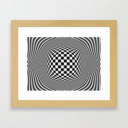 Optical Illusion Checkers Chequeres  Framed Art Print