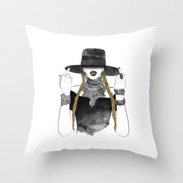 Creole Queen Bey Throw Pillow